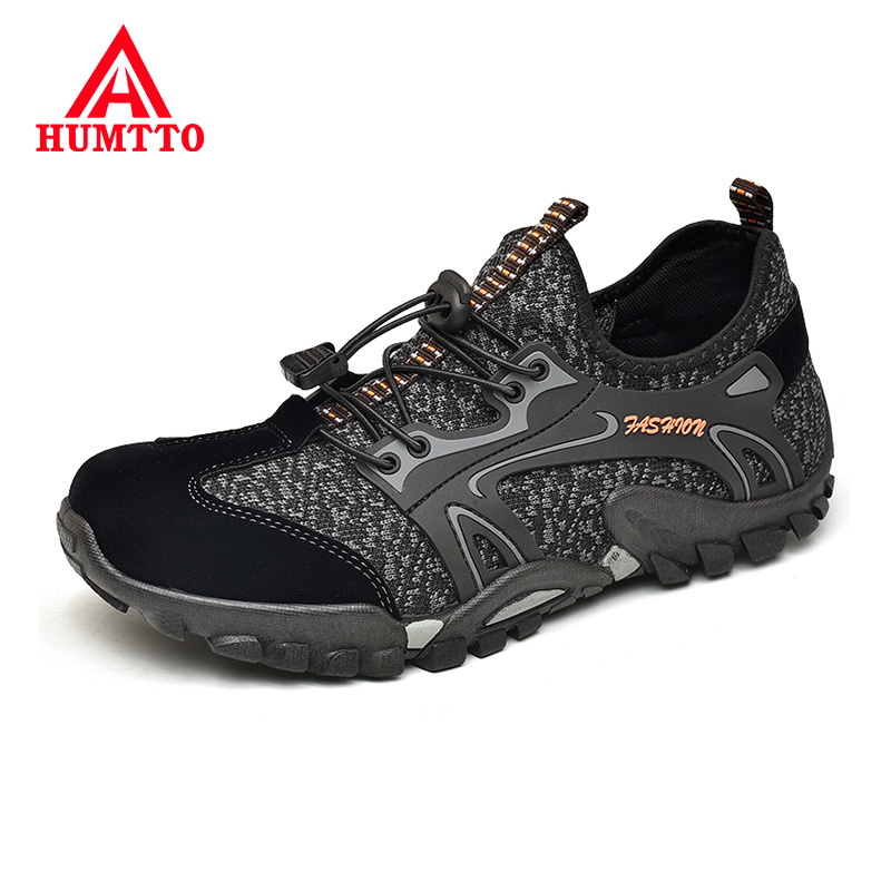 Hot Sale Non-slip Wear-resistant Outdoor Sneakers Breathable Comfortable Casual Shoes Mens Fashion Elastic Band Men Shoes Big Size 38-46
