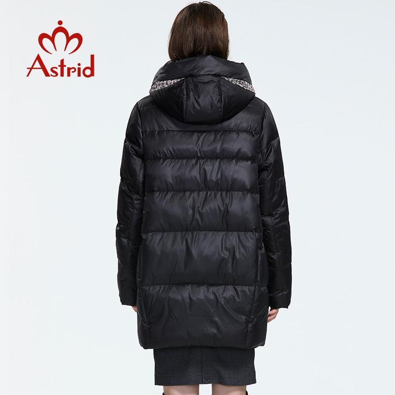 Kadın Giyim'ten Parkalar'de Astrid2019 kış yeni varış şişme ceket kadınlar gevşek giyim giyim yüksek kalite kısa stil kadın ceket ile hood AR 8960'da  Grup 3