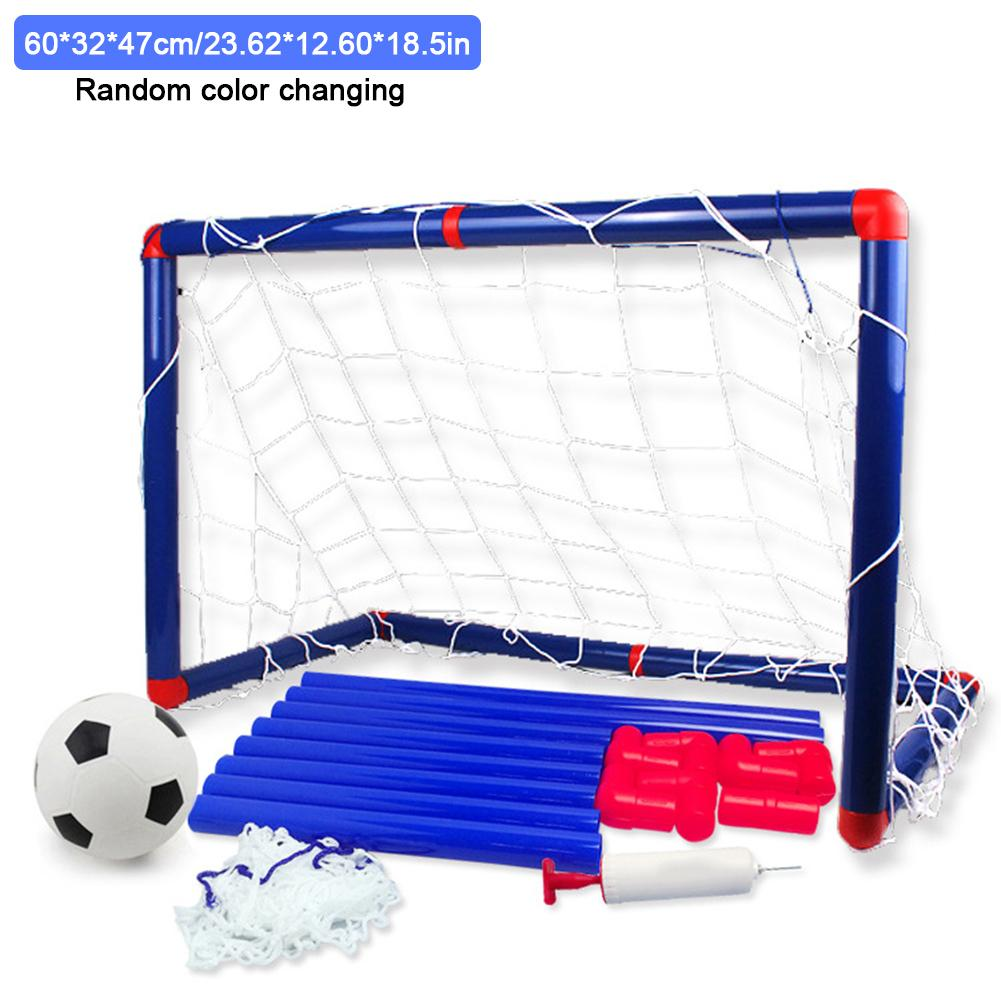Kids Sports Soccer Toy Set With Ball Pump Goal Net Football Toy Set For DIY Indoor Outdoor Practice Perfect Gift For Kids /FFY/