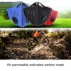 Breathable activated carbon cycling mask mountain bike road bike bicycle half face mask dustproof cycling running sports mask