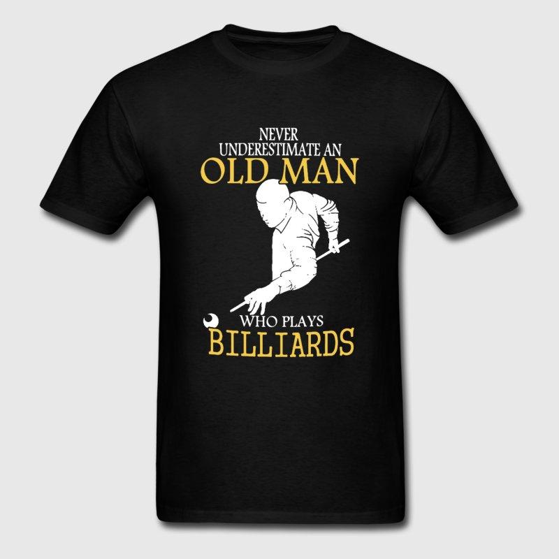 100% Cotton O-neck Custom Printed Men T shirt Billiards Old Man Shirt Women T-Shirt