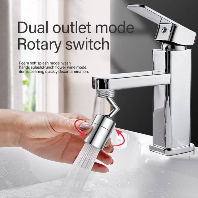 Oxygen-Enriched Foam for Kitchen Bathroom Toilet Faucet 24mm 1Pcs Anti-Splash 720/° Rotatable Faucet Sprayer Head with Durable Copper /& ABS Universal Splash Filter Faucet 4-Layer Net Filter