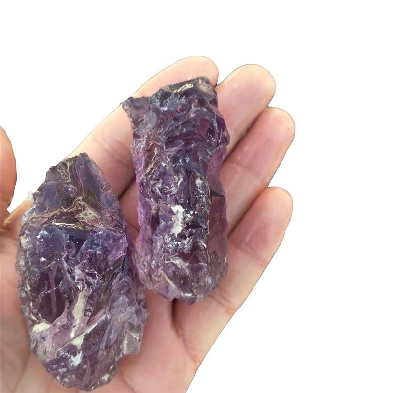 1 pc, 80g-100g cristal naturel brut Quartz graviers améthyste cristal pierres dégringolées baguette pour 7 Chakra guérison