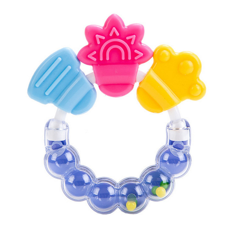 Baby Teether Silicone BPA Free Toothbrush Teething Kids Tooth Brush Dental Care Gifts Chew Toys Cute Toddler Bell Toys Massager