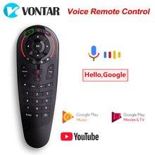 G30 ses uzaktan kumanda 2.4G kablosuz hava fare G20S/G10 33 Keys IR öğrenme Gyro algılama uzaktan için android TV kutusu/Mini Pc