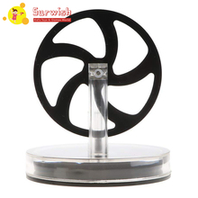 Low Temperature Difference Stirling Engine Model Toy With Aluminium Alloy Base - Black Flywheel stirling engine birthday present mini model puzzle scientific experiments equipment high temperature physical toy