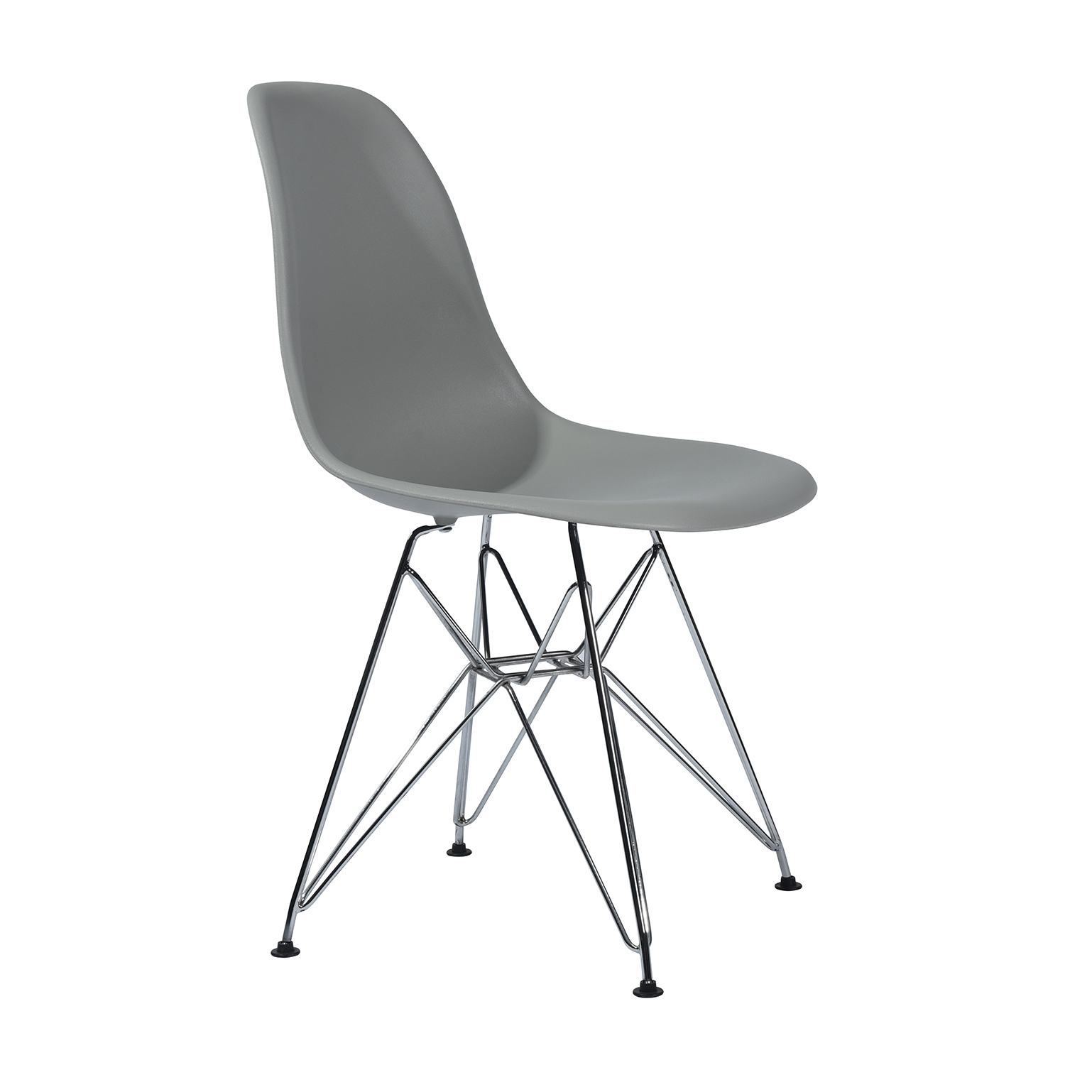 EGGREE Modern Rico Dining Chairs, Kitchen Chair With Metal Feet, Office Room Chair With Solid Frame- Grey