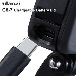 Image 5 - Ulanzi G8 7 Gopro 8 배터리 커버 분리형 배터리 뚜껑 Type C Gopro Hero 8 용 충전 포트