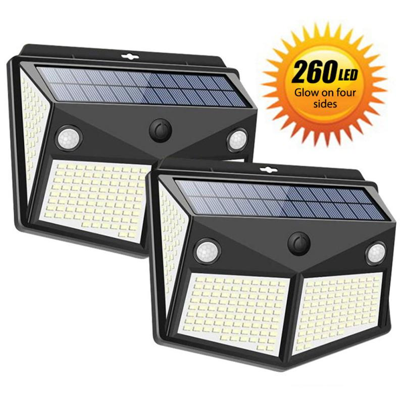 3 Modes 260/160 LED Outdoor Solar Wa