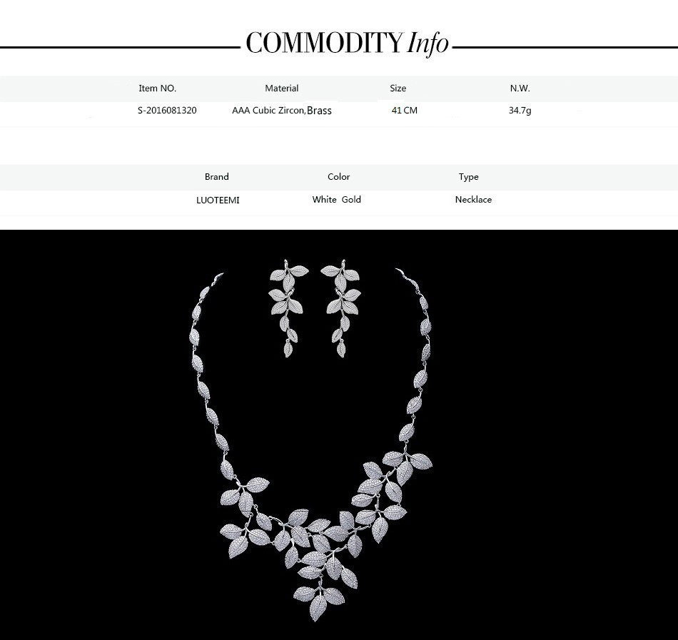 Leaf silver jewelry set