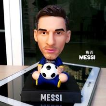Q version of soccer star messi Beckham ronaldo shake head figurines car decoration car acce