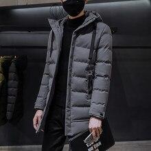 Abrigo cálido de invierno para hombre, chaqueta gruesa de algodón con capucha, abrigos Parkas para hombre, ropa de moda para hombre, ropa informal con cremallera para hombre