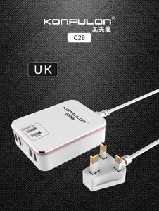 Image 3 - 6USB Mobile Ladegerät Schnell Ladegerät QC 3,0 EU UNS UK stecker multi USB Telefon Ladegerät Schnell Ladegerät 3,0 Für Mobile IPhone12 Ipad C29