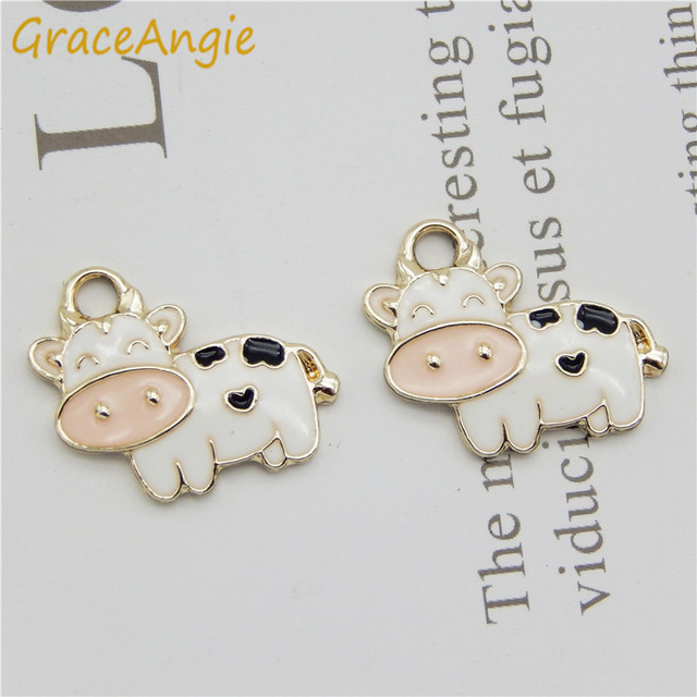 10Pcs//Set Enamel//Alloy Penguin Dog Charms Pendant Jewelry DIY Making Craft Gif`