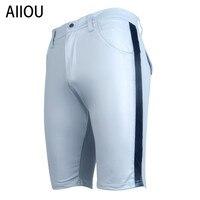AIIOU New Men's Sexy Patent Faux Leather Pants Underwear Long Leg Boxers Men Underwear Male Fashion Pouch Panties Boxer Shorts