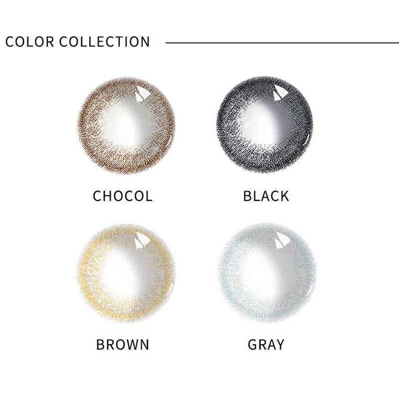 1 para kolorowe szkła kontaktowe soczewki piękne uczeń dla oczu kolorowe impreza z okazji Halloween kobiety urok zużycie obiektywu