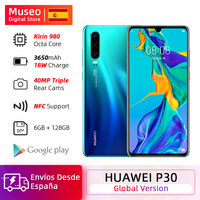 Global Version Huawei P30 6GB 128GB Kirin 980 Smartphone 30x Digital Zoom Quad Camera 6.1'' Full Screen OLED NFC 3650mAh