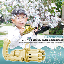 Kids Gatling Bubble Gun Toys Summer Automatic Soap Water Bubble Machine For Children Toddlers Indoor Outdoor Bubble Blowing