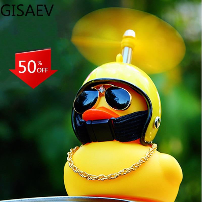 Шлем GISAEV с разбитой ветровой волной, маленькая Желтая утка, подарок, милая внутренняя ломающая утка, украшение для автомобиля, украшение для...