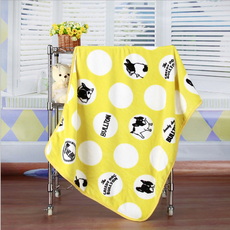 Super Soft Flannel Pet Blanket Bed Thicken Dog Cushion Puppy Kitty Shower Towel Cute Home Rug Warm Sleeping Cover Pet Supplies 10