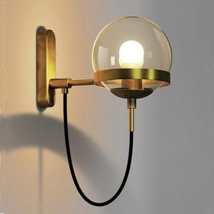 Image 1 - Lámparas de pared de estilo nórdico, candelabro moderno, accesorio de iluminación de pared, luz LED de escalera en forma esférica de vidrio Edison, estilo rústico y moderno