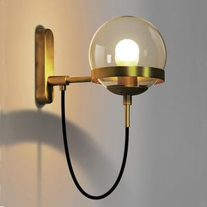 Image 1 - נורדי קיר מנורות מודרני פמוט קיר אור קבועה Stairway LED אור ב פוסט מודרני כפרי עתיק אדיסון זכוכית כדורית צורה