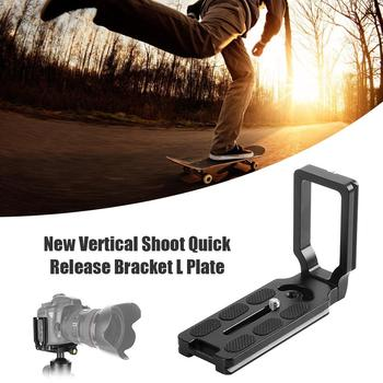 Universal Vertical Shooting Quick Release L Plate Bracket Grip for DSLR Camera Compatible with ARCA-SWISS RRS KIRK image