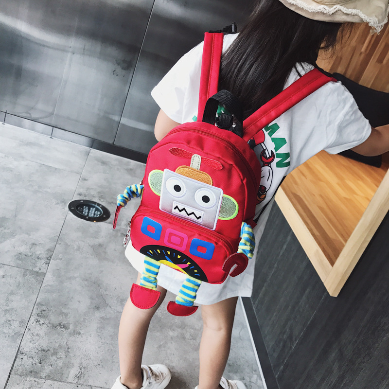 Anti-Lost CHILDREN'S Rucksack New Style Korean-style Robot Backpack Cool Stereo Baby Nursery Cute School Bag