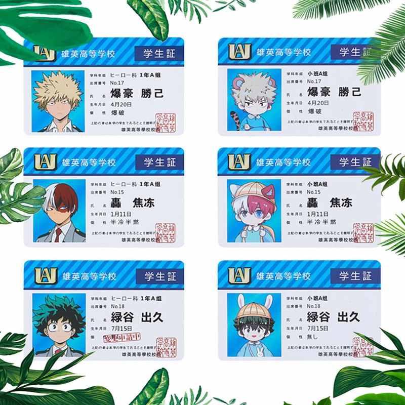Anime Boku No My Hero Academia Todoroki Shoto Deku Postkaart Post Favoriete Kaart Artbook Gift Cosplay Props Boek Set