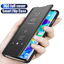 Luxury Smart Mirror Flip Phone Case For Huawei Honor 10i 20i 9 10 Lite 8x Case For Honor 20 Pro 9i 8 8C 8S 8A V20 V10 Play Case(China)