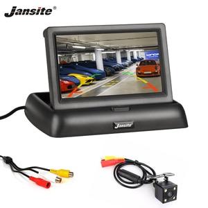 "Image 1 - Jansite 4.3 ""TFT LCD מתקפל רכב צג HD תצוגת מצלמה הפוכה מצלמה Paking מערכת לרכב אוטומטי האחורי מוניטורים NTSC PAL"