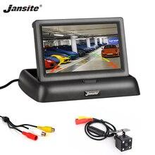 """Jansite 4,3 """"TFT LCD Monitor de coche plegable cámara de visualización HD cámara de marcha atrás Paking sistema para Auto coche monitores retrovisores NTSC PAL"""