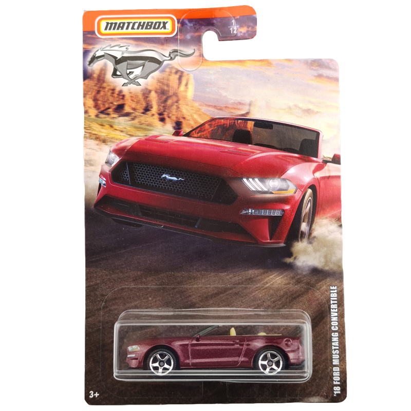 2020 Matchbox 1:64 Car 18 FORD MUSTANG CONVERTIBLE  Collective Edition Metal Diecast Car Alloy Model Car Kids Toys Gift