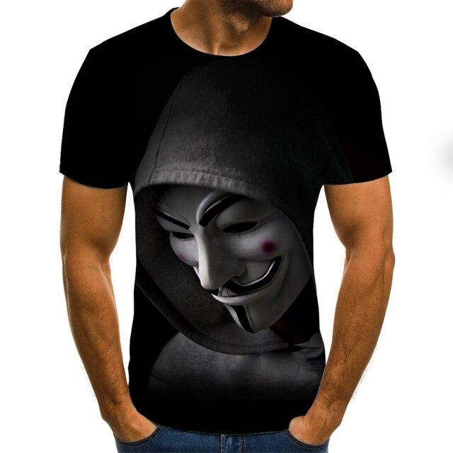 2020 nowych mężczyzna t koszula szkic clown 3D męskie  K82HO