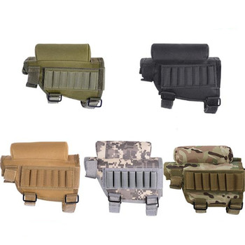 Tactical Rifle Cases Cheek Rest Riser Ammo Cartridges Hunting Carrier Canvas Pouch Round Cartridge Bag Shell Buttstock Ammo 5