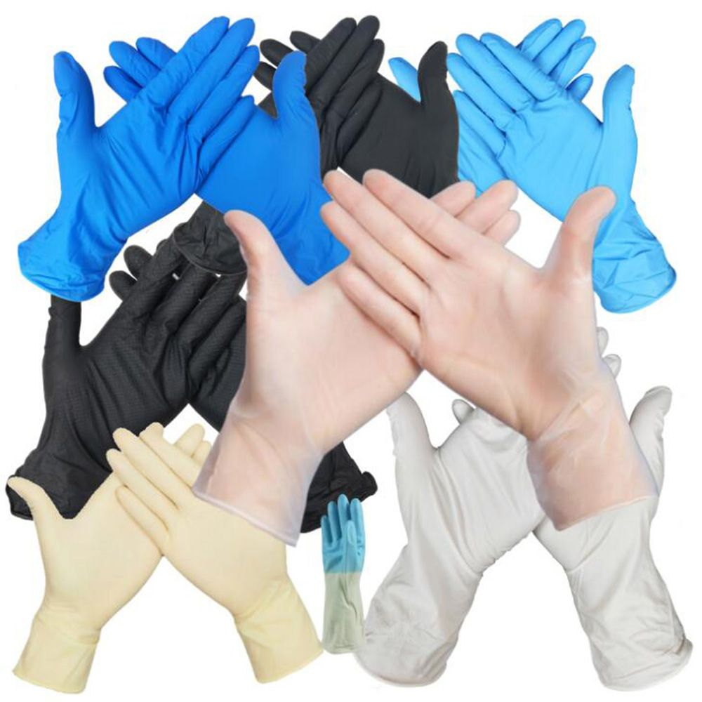 100pcs Disposable Black Gloves Household Cleaning Washing Gloves 