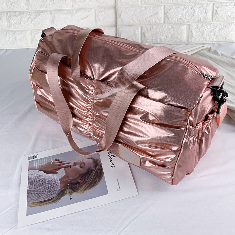 New Temperament Travel Bag Women's Leisure Travel Shoulder Bag Large Capacity Portable Fitness Bag