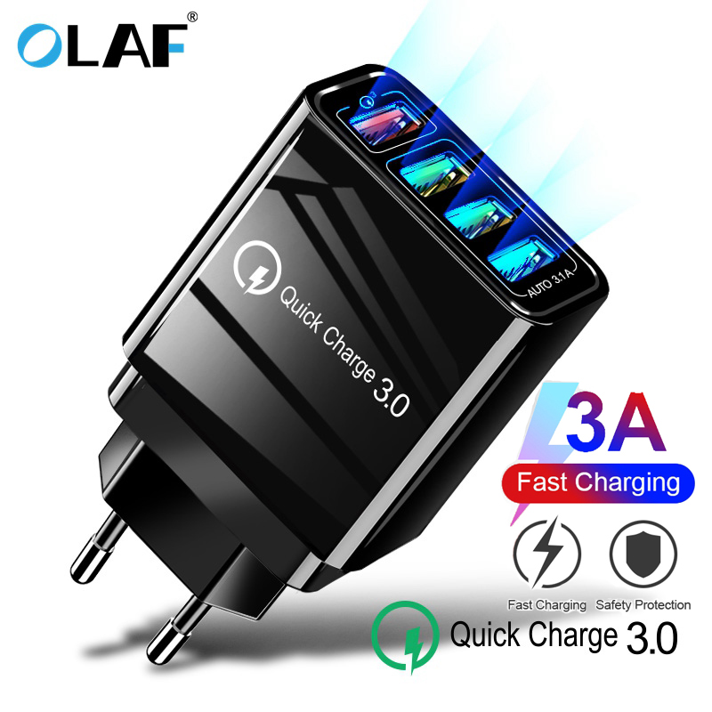OLAF Adapter Usb-Charger Multi-Plug QC3.0 iPhone Xiaomi Samsung for Wall