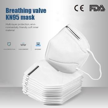 Anti-poussière jetable masque buccal filtre activé Pollution 3 couches Non-tissé épaissi coton masque caractéristiques comme KF94 FFP2