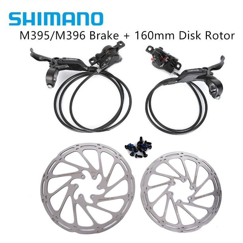 Shimano 유압 디스크 브레이크 세트 프론트 및 리어 BR-BL-M395/m396 for shimano m395/m396 브레이크 센터 라인 디스크 브레이크 로터