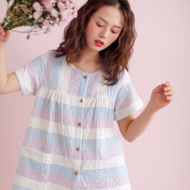 New Products Short Sleeve Shorts Women's All Cotton Suit Household Pajamas Women's Pajamas Pajamas