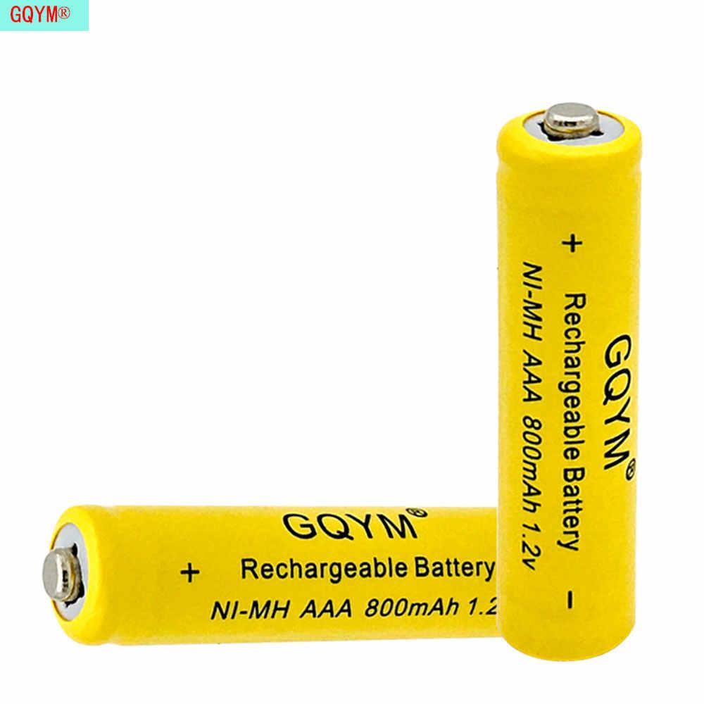 10 قطعة/GQYM ni-mh 800Mah 1.2 فولت بطارية قابلة للشحن ل كاميرا رقمية مصباح يدوي التحكم عن بعد