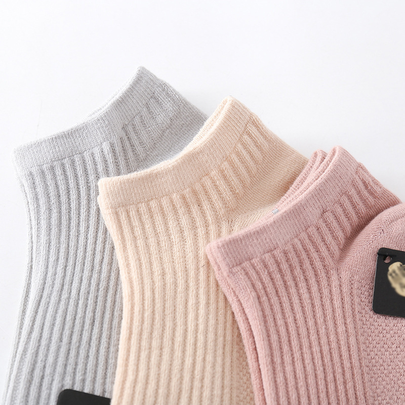 Men And Women No-show Socks Spring And Summer New Style Socks MEN'S Socks Japanese-style Cotton Socks Shallow Mouth Solid Color