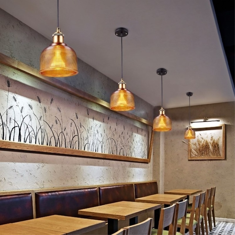 Crystal glass candy color Pendant Lights single head restaurant lamp Nordic modern creative fashion bar table lamp WJ11
