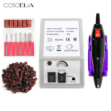 COSCELIA Electric Nail Drill Bits Manicure Set Milling Cutter For Nail Files Manicure Cutter Nail Art Tools All For Manicure недорого
