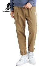 Мужские брюки карго Pioneer Camp, повседневные тактические прямые тренировочные брюки цвета хаки с поясом, AXX903526T