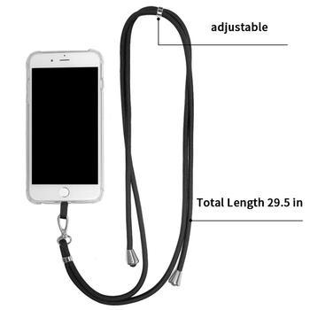 Odpinany nylonowy smycz na szyję smycz na telefon komórkowy breloczek na szyję brelok na szyję Anti-lost odznaki telefon komórkowy liny na szyję tanie i dobre opinie CN (pochodzenie) Mobile Phone Straps polyester adjustable metal buckle