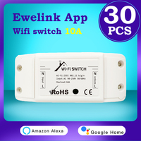 EWeLink-Módulo de interruptor remoto inalámbrico para el hogar, dispositivo inteligente con Wifi, compatible con Alexa, Echo, Google, IFTTT, Yandex, Alice