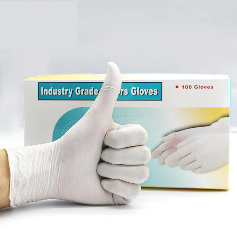 Disposable White Gloves Catering Housework Protective Food Grade Rubber Gloves 50pairs/pack Specials Wholesale 2020 New