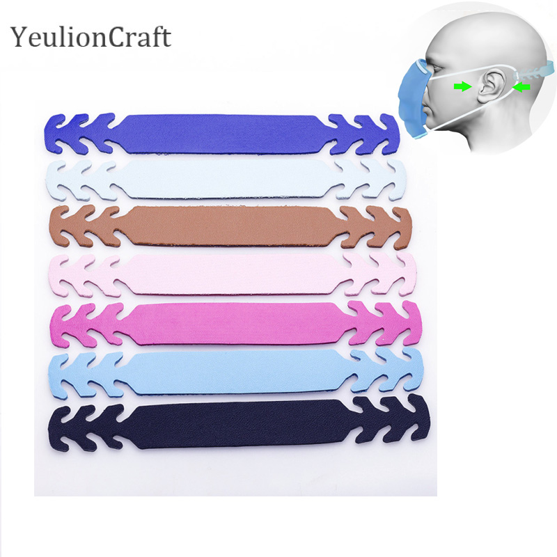 YeulionCraft 5/10Pcs Adjustable Ear Protectors Hook Extension Strap Buckle 1.5X15cm For Mask Wearing Ear Grips Clips Hooks